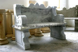 Banco di marmo bianco del giardino del banco
