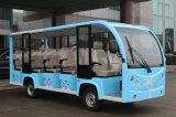 Bus facente un giro turistico elettrico della sosta della città delle 14 sedi con il disegno di Fashionale