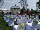 Coperchio poco costoso bianco piacevole della presidenza di cerimonia nuziale