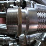 고품질 플랜지를 가진 땋는 유연한 물결 모양 금속 호스