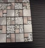 Mattonelle di mosaico Mixed del metallo dell'acciaio inossidabile di reticolo del mosaico trasparente di vetro per la cucina Backsplash
