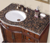 Bassin de lavabo rond de comptoir de lavabo chic pour salle de bain