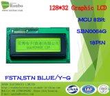 schermo grafico dell'affissione a cristalli liquidi di 128X32 MCU, Sbn0064G, 18pin, per la posizione, campanello, medico, automobili