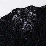 Vestidos de noche atractiva de seda del hielo del partido de ganchillo ropa de playa vestido de Mano