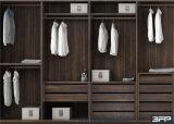 Wardrobe de madeira da grão personalizado