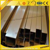 Tubo redondo de aluminio del tubo cuadrado de aluminio al por mayor con tallas y colores modificados para requisitos particulares