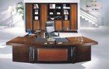 Forniture di ufficio esecutive di legno della Cina della scrivania dell'impiallacciatura lucida (HX-RD6071)