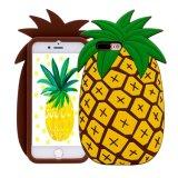 Het modieuze 3D Leuke Geval van de Telefoon van de Ananas van het Silicone Mobiele voor iPhone 6