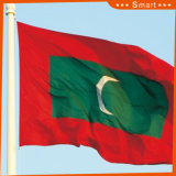 Kundenspezifisch imprägniern und Sunproof Staatsflaggemaldives-Staatsflagge-Modell Nr.: NF-040