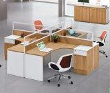 4개의 시트 L 모양 사무실 분할 다발 직원 워크 스테이션 (HX-NCD064)