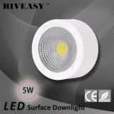 luz blanca montada superficie de Downlight de la MAZORCA de 5W LED