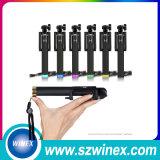 Mini bâton sans fil de Monopod Selfie d'arc-en-ciel de luxe universel pour Smartphone