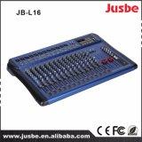 Jb-L16 16-kanaal met 48V De spook AudioMixer van de Levering van de Macht