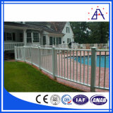 Cerca de aluminio revestida de la piscina del polvo