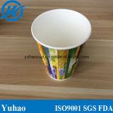 Tazas de papel disponibles vendedoras calientes del diseño para la consumición del agua