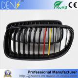 Noir de lustre avec le gril de capot jaune rouge de rein de M-Couleur pour BMW E90 2008-2011