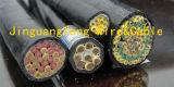 Кабель системы управления экрана заплетения медного провода куртки PVC KVVP изолированный PVC