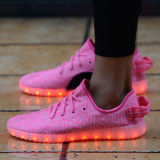Hot Selling Yeezy Boost 350 Flykint LED Light Shoes