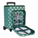 Travel Trolley Wheatled Insulted Picnic Cooler Case Box Bag