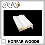 Frame de porta de madeira moldando aprontado material de construção