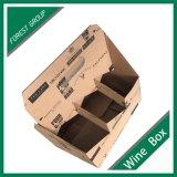 Personalizada de fábrica de Brown Paquete de 6 botellas de vino caja del paquete