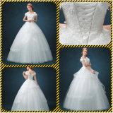 Платье венчания мантии шарика шнурка сатинировки тучное (Dream-100069)