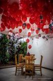 Spätester Art-Satin-kräuselnfarbband für Ballon-Zubehör