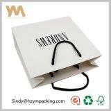 Sac blanc de cadeau de papier de mode de carton avec la qualité