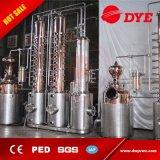 Destilería de la caldera doble para el alcohol que hace con calor de vapor y la columna del reflujo