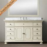 Muebles del baño de la vanidad del cuarto de baño de la tapa del mármol del fregadero doble Fed-1672