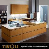 Современные типы кухни черноты Veneer от создателей шкафа Китая Whit Tivo-0028h
