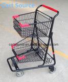 미국 더블 슈퍼마켓 트롤리 쇼핑 카트 쇼핑 트롤리