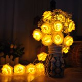 2m20LED Rose Battery LED String Light Light Fairy para decoração