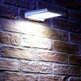 안뜰, 야드, 갑판, 현관을%s 무선 비바람에 견디는 알루미늄 정착물 최고 밝은 램프를 점화하는 46의 LED 옥외 태양 벽 빛 움직임에 의하여 활성화되는 안전