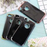 Revestimento de estilo luxuoso, capa de telefone celular TPU dourada para Samsung