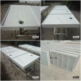 Глубокое акриловое твердое поверхностное каменное основание ливня ванной комнаты (SB170524)