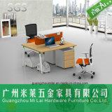 Muebles calientes del escritorio de la partición de la oficina de venta con la pierna del acero inoxidable