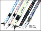 Erstklassiges Polyester-Nylon gesponnene Abzuglinie mit Abzeichen-Bandspulenhalterung-Haken-abnehmbarer Faltenbildung für Schlüssel-Handy-Kamera USB