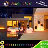 다채로운 LED 소파 가구를 깜박거리는 로비 가구 마술