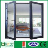 Porta de vidro de alumínio do Casement da prova sadia com Baixo-e vidro