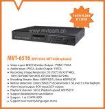CCTV 16CH DVR H. 264 изготовления Китая DVR с функцией P2p (6416H80H)