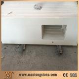 Bancada branca personalizada de quartzo da faísca da cozinha