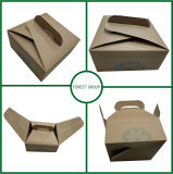 Картонная коробка с коробкой торта ручки с печатание ручки изготовленный на заказ освобождает конструкцию