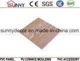 Panneau de mur en bois de plafond de PVC de matériau de construction de plastique stratifié, Cielo Raso De PVC