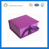 Boîte-cadeau polychrome de papier d'imprimerie (avec la bande)