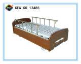 (A-116)木のベッドヘッドが付いているDouble-Function手動病院用ベッド