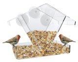 Transparente Vogel-acrylsauerzufuhr mit niedrigem Preis für zwei Vögel