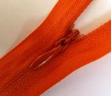 Zipper de nylon invisível da forma para o vestuário