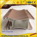 CNC de aluminio anodizado modificado para requisitos particulares fábrica del perfil de la protuberancia de la capa del polvo
