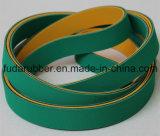 Трансмиссионный ремень Китая зеленого и желтого горячего надувательства Nylon плоский
